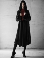 Black Fashion Street Gothic Witch Long Cardigan Jacket for Women