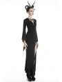 Black Sexy Gothic Hallow-out Slim Maxi Dress