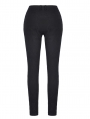 Black Gothic Flower Lace Tight Long Trousers for Women