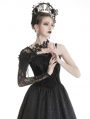 Black Gothic Flower Lace Sleeve for Women
