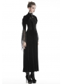 Black Vintage Gothic Velvet Cape with Big Lace Sleeves