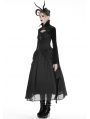 Black Gothic Velvet Vampire Cape with Big Bat Sleeves