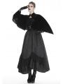 Black Vintage Gothic Velvet Shawl for Women