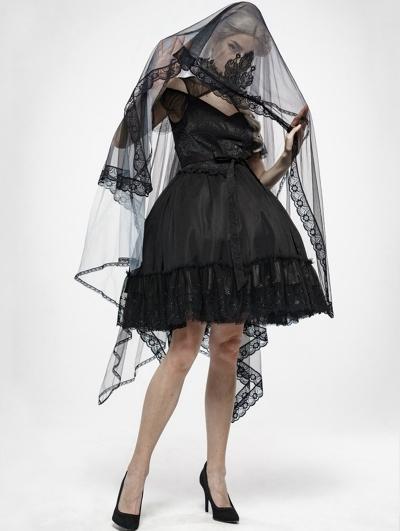 Gothic Zombie Bride Mesh Veil