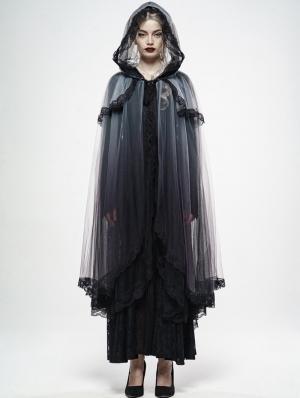 Gothic Zombie Bride Mesh Cloak for Women