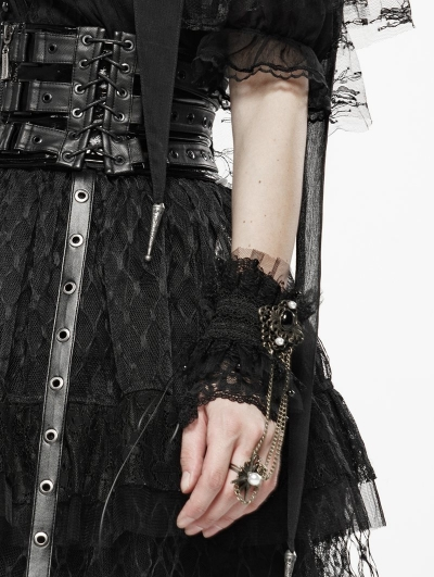 Black Sexy Queen Lace Vintage Gothic Gloves