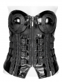Black Gothic Love and Imprisonment Heavy Metal Heart-Shaped Corsetv