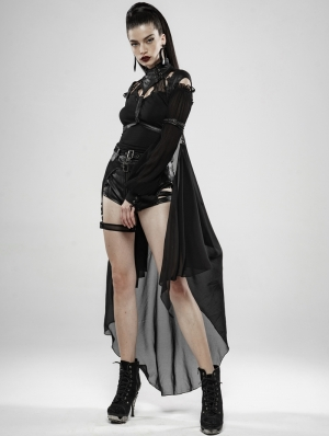 Dark Night Knight Gothic Punk Heavy Metal Bat Cloak for Women