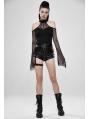 Military Watcher Black Gothic Punk Shorts for Women