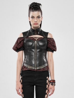 Brown Steampunk Captive Soul Corset Top for Women
