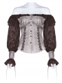Steampunk Off-the-Shoulder Long Sleeve Blouse for Women