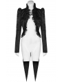 Red Night Black Vintage Gothic Swallow Tail Coat for Women