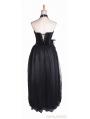 Long Black Velvet Corset Gothic Prom Dress
