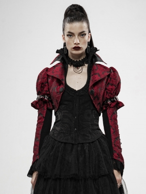 Red Vinathe Steampunk Desperate Crisis Short Coat for Women