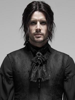 Black Vintage Gothic Rococo Victorian Necktie