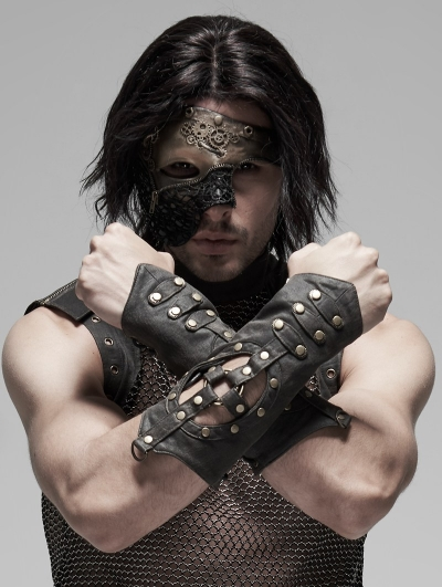 Steampunk Hollow-out Gloves for Men