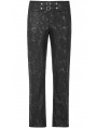 Black Gothic Steampunk Do Old Style Long Pants for Men