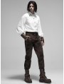 Brown Gothic Steampunk Do Old Style Long Pants for Men