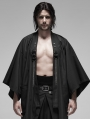 Black Gothic Punk Metal Warrior Japanese Coat for Men