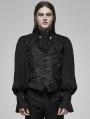 Black Vintage Gothic Rococo Dark Print Vest for Men