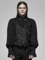 Black and Red Vintage Gothic Rococo Dark Print Vest for Men