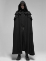 Black Retro Gothic Rococo Long Cloak for Men