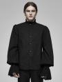 Black Vintage Gothic Palace Cotton Long Sleeve Shirt for Men