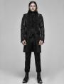 Black Vintage Gothic Palace Jacquard Long Tailcoat for Men