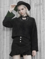Black Gothic Punk Street Fashion Sweater for Women
