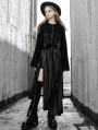 Black Gothic Punk Street Fashion Short Sweater Jacket for Women