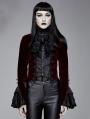 Red Vintage Gothic Victorian Tuxedo Party Velvet Jacket for Women