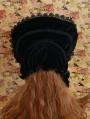 Black Velvet Flower Gothic Lolita Headdress