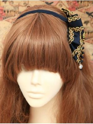 Blue Beads Ribbon Lilta Headband