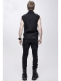 Black Do Old Style Gothic Punk Rock Sleeveless Top for Women