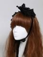 Black Lace Gothic Lolita Headband