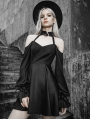 Black Street Fashion Gothic Punk Off-the-Shoulder Long Sleeve Short Dress