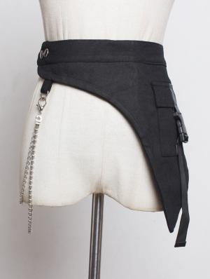 Black Gothic Cotton Chain Belt
