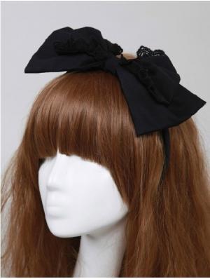 Black Bow Gothic Lolita HeadBand