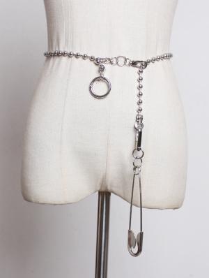 Sliver Gothic Punk Pin Chain Belt