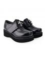 Black Gothic Punk Cross Platform Shoes for Women