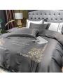 Sliver Vintage Embroidery Comforter Set