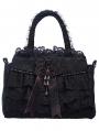 Black Vintage Gothic Flower Lace Handbag
