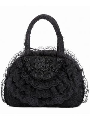 Black Romantic Vintage Gothic Flower Lace Handbag