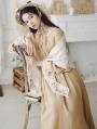 Vintage Long Sleeve Medieval Inspired Long Dress