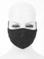 Black Gothic Cobweb Unisex Mask