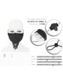 Black Gothic Lace Beading Mask for Women