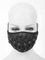 Black Gothic Punk Lace-up Unisex Mask