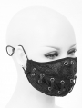 Black Gothic Punk Lace-up Unisex Mask