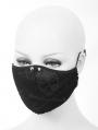 Black Gothic Punk Rivet Unisex Mask