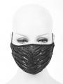 Black Gothic Punk Unisex Mask